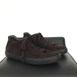 TODS brown suede leather sneakers sz 9 Italy